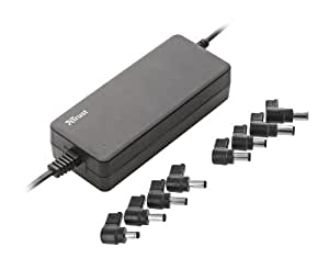 Trust 17566  - Adaptador de corriente para portátil, 90W, color negro