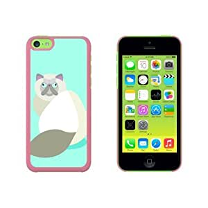 Geometric Himalayan Persian Siamese Cat Snap On Hard Protective For SamSung Note 4 Phone Case Cover - Pink