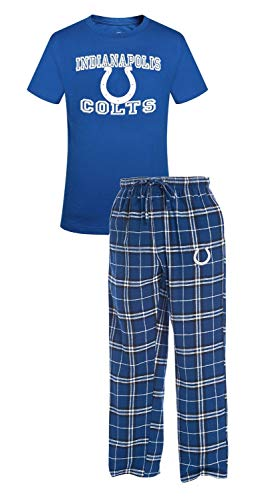 Concepts Sport Indianapolis Colts NFL Great Duo Men's T-Shirt & Flannel Pajama Sleep Set
