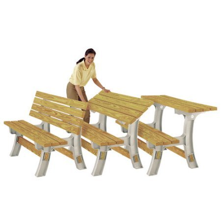 NEW 2x4 Basics Flip Top Garden Park Picnic Outdoor Bench Table Kit