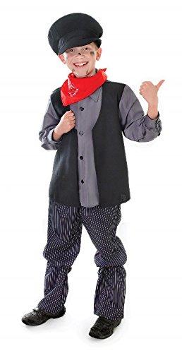 Bristol Novelty Black Chimney Sweep Childrens Costume Boy's Medium