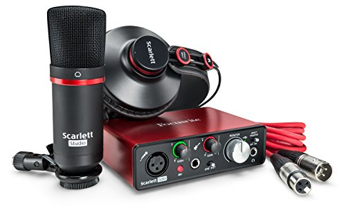 Focusrite Scarlett Solo Studio (2nd Gen) USB Audio Interface and Recording Bundle with Pro Tools | First (Best Recording Interface For Mac)