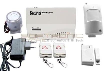 Softronic - Kit completo de alarma inalámbrica antirrobo con unidad de control GSM - Sensores de