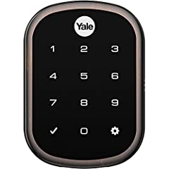 Lose your keys for good with the Yale assure lock SL. Lock and unlock your home using the backlit touchscreen keypad or through your Z-Wave smart home system, including Samsung SmartThings and wink. Tap the keypad with 3 fingers to quickly lo...