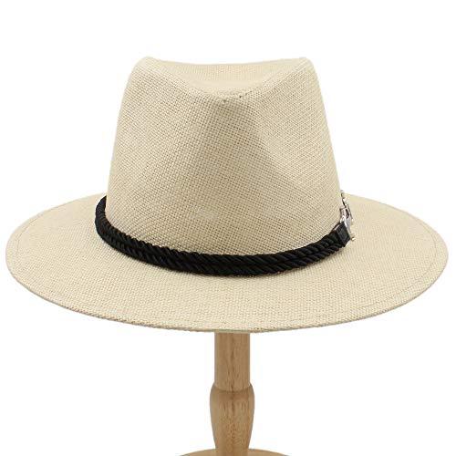 (L.W.SUSL Men Women British Retro Jazz Hat Fashion Panaman Hats Fedora Fedoras New Unisex Cotton Plaid Spring Autumn (Color : Khaki, Size : 56-58CM))