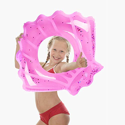 Mocoosy Inflatable Swim Ring Pool Float for Kids Adult Seashell Shape Tube Float Pool Toys for Summer Beach Swimming Pool Party Decorations 80cm/31.5''(Pink)