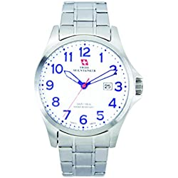 Swiss Mountaineer Men's 100M Water Resistant Dial Watch White