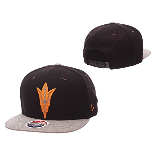(Zephyr NCAA Arizona State Sun Devils Adult Men's Executive Snapback Hat, Adjustable Size, Team Color/Gray)