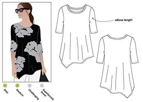 Style Arc Sewing Pattern - Kim Swing Top (Sizes 18-30) - Click for Other Sizes Available