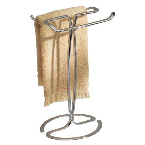 InterDesign Axis Towel Holder for Bathroom Vanities - Chrome