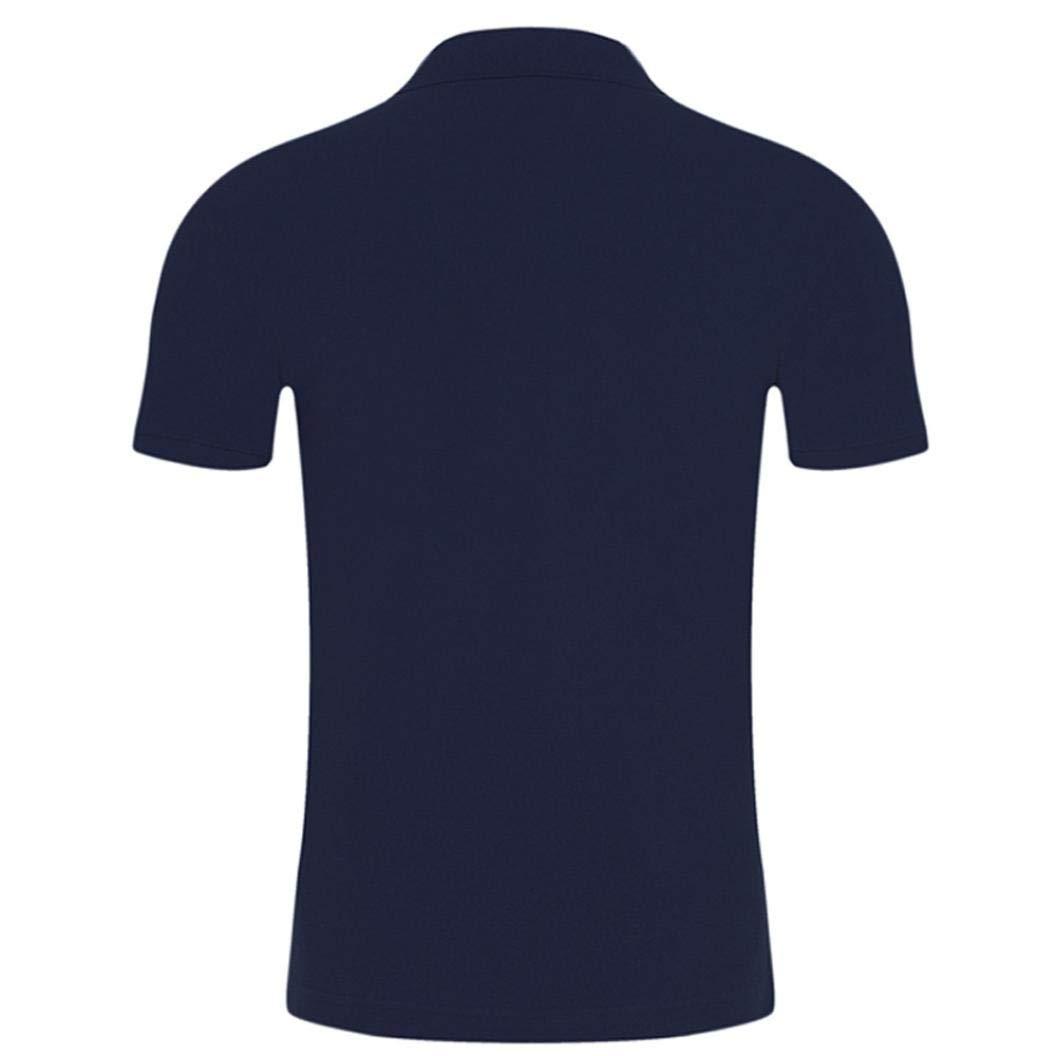 Resplend Camiseta de Manga Corta de Verano con Mangas Cortas, cómoda y Delgada, de Blusa con Botones: Amazon.es: Ropa y accesorios