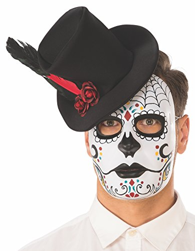 Rubie's Unisex-Adults Day Of The Dead Mask With Hat, As Shown, One Size -