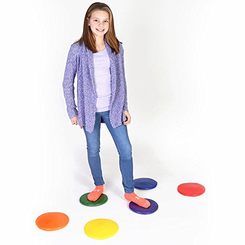 "Sensory Stimulation Activities (Fun and Function 6 Colorful Squeaky Spots, All Ages – Blend Movement Activities with Auditory Stimulation, 8"" Diameter)"