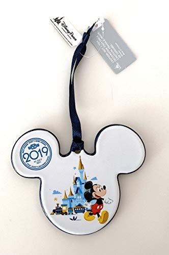 Walt Disney World 2019 Ceramic Minnie Mickey Mouse Icon Disc Ornament ()