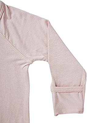 dfc6664149 ... Boody Body Baby EcoWear Long Sleeve Onesie - Soft Blanket Sleeper with  Built In Mittens made ...
