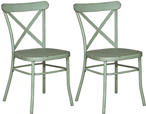 41K2gtEVjLL - Signature Design by Ashley D400-104 Minoan Dining-Chairs, Light Green