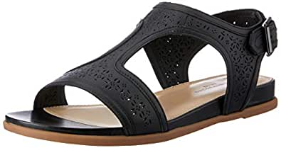 Hush Puppies Women's Dalmatian T Strap Fashion Sandals Black 5 US