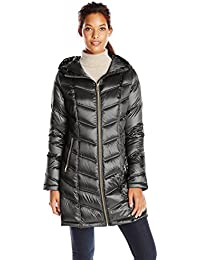 190211582b0 Women s Mid-Length Packable Chevron Down Coat