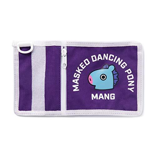 BT21 Official Merchandise by Line Friends - MANG Character Folding Bifold Wallet, - Bi Fold Pony Wallet