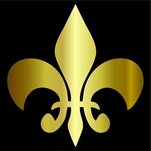 Fleur-de-lis Decal / Sticker - Gold 4
