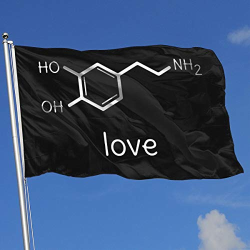 IEK04r@flag Seasonal Garden Flags for Outdoors, Love Dopamine Molecule Chemistry Yard Flags | Durable, Polyester]()