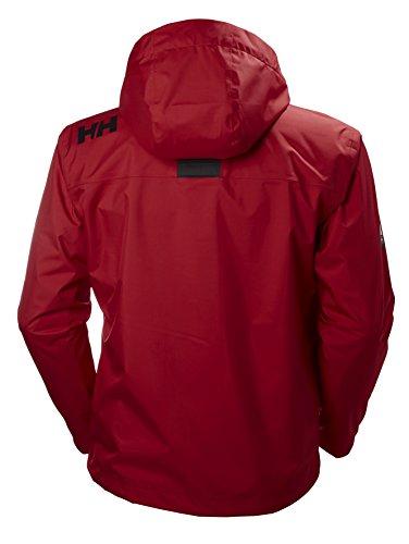 Helly Crew Red Waterproof Hansen Jacket Hooded Midlayer Men's gqrafgwH