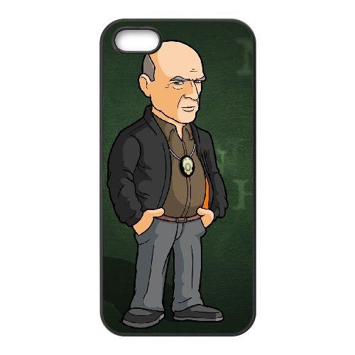Hank Schrader 002 coque iPhone 4 4S cellulaire cas coque de téléphone cas téléphone cellulaire noir couvercle EEEXLKNBC25569