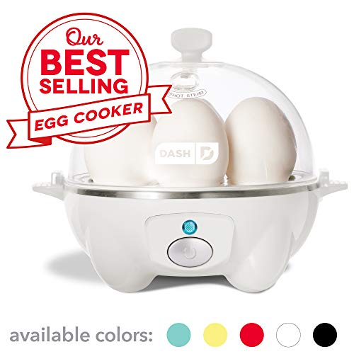 Dash Rapid Egg Cooker: 6 Egg Capacity Electric Egg Cooker for Hard Boiled Eggs, Poached Eggs, Scrambled Eggs, or Omelets with Auto Shut Off Feature - White ()