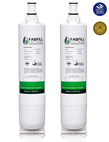 Fabfill 4396508 Whirlpool Kitchenaid Maytag Side-by-side Compatible Refrigerator Water Filter, Pack of 2, White