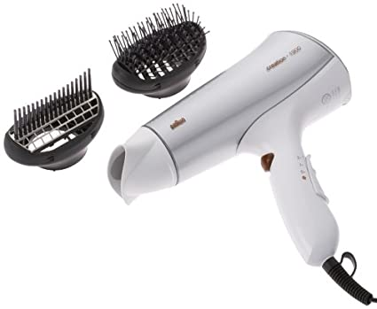 Braun CI 1900 Creation ION Secador de pelo, Blanco y Dorado, 2 Accessorios