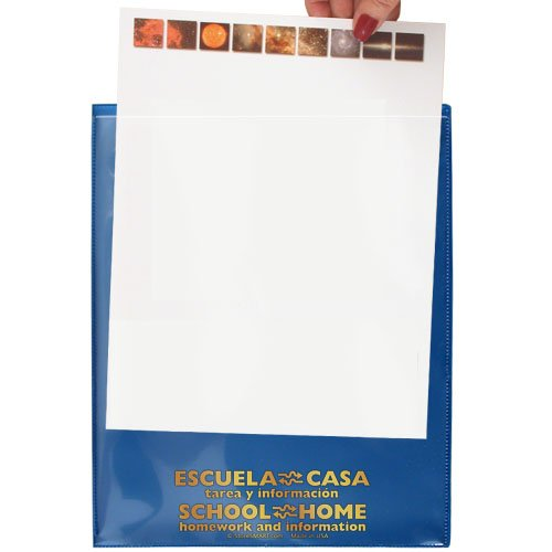 StoreSMART - School / Home Folders - Metallic Blue - 25-Pack - Archival Durable Plastic - English/Spanish - Homework and Information - SH900SVSP-MB25