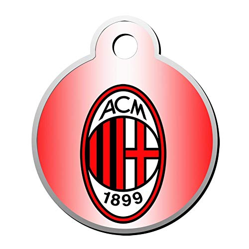 CSHCSH Italy Serie A AC Milan Team Emblem Pet ID Tag for Dogs and Cats - Dog Tag Art Pet Tag Personalized Customization