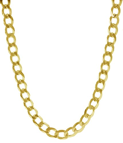 18K Solid Yellow Gold Heavyweight 4.5mm Cuban Curb Link Chain Necklace- Italian Design- 20''-18 Karat by PORI JEWELERS (Image #2)