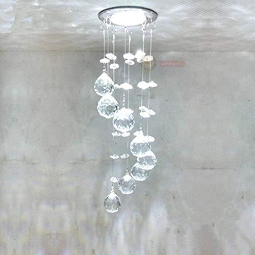 FidgetKute 3W LED Crystal Ceiling Light Small Chandelier Lamp Pendant Fixture Hallway Decor Warm White Surface Mount by FidgetKute (Image #4)