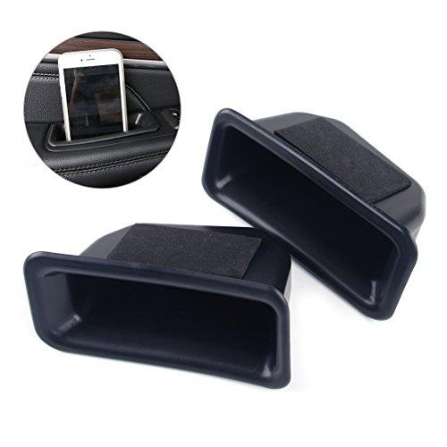 SalaBox-Accessories - 1 Pair Front Door Inner Side Handle Glove Tray Armrest Holder Storage Box For Ford Explorer -