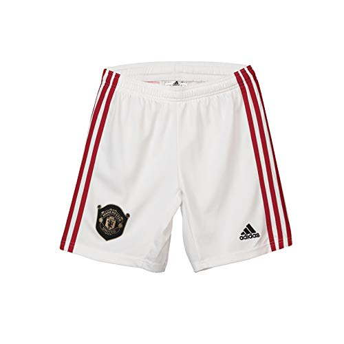 (Manchester United FC Official Soccer Gift Boys Home Kit Shorts 7-8 Years White)