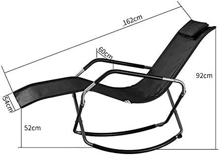 DSHUJC Fauteuil inclinable Pliant Portable, Chaise berçante pour Personnes âgées, Chaise Longue de Balcon à la Maison, Chaise de Pause déjeuner de Bureau Adulte, chais