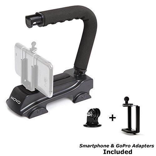 Movo mango estabilizador de vídeo de acción Grip para GoPro Hero, Hero2, Hero3, Hero4, Hero5AMD Apple iPhone 4, 4S, 5,...