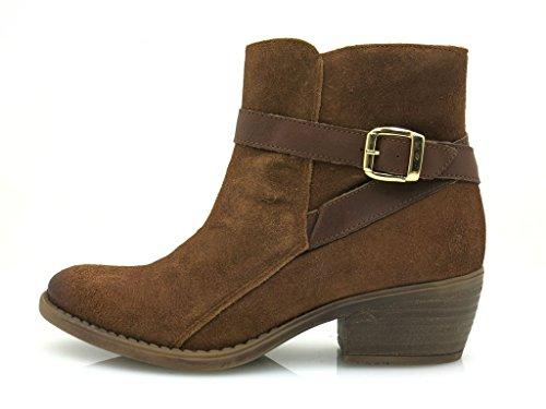 Kathamag Lederstiefelette Leder Cowboy Boots Leder Stiefelette 215 Cognac