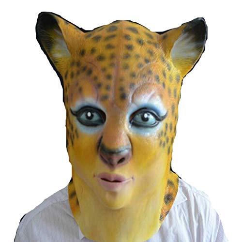 Professional Halloween Makeup Products - LLCOFFGA Halloween Leopard Mask Horror Leopard