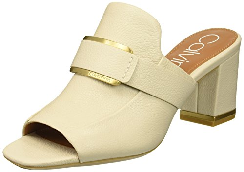 Calvin Klein Women's Corinne Mule, Soft White, 8 Medium US ()