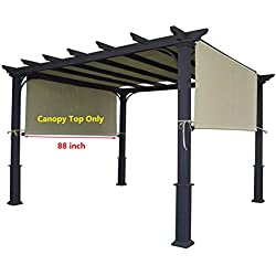 "ALISUN Universal Pergola Canopy Top for 8' x 10' Pergola Structure - Beige (Canopy Top Only, Size: 196"" x 88"")"