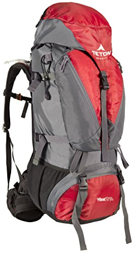 TETON Sports Hiker 3700 Ultralight Internal Frame Backpack; Great Backpacking Gear for Hiking, Camping, Mountaineering; Red
