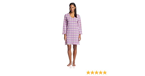 BHPJ by BedHead Pajamas Womens Faux Buttons Henley Nightshirt