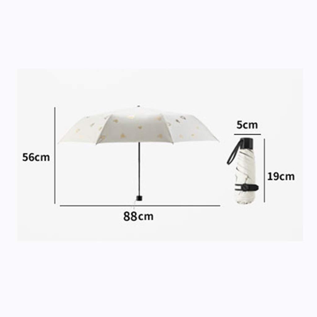 5819eb0575be Amazon.com: MSNDD Five Folding Sun Umbrella Sun Protection UV ...