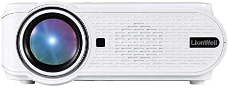[해외]LionWell 미니 LED 프로젝터 2000 루멘 1080P 800 * 480 해상도 키스톤 보정 기능 일본어 수동 컴퓨터 ? 헤매고 태블릿 · 게임기USBSDAVVGA 연결 가능한 HDMI 케이블과 홈 シアタ ? 시네마 (90W) / LionWell Mini LED Projector 2000 Lumens 1080P ...