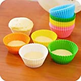 QINF Candy Color Silica Gel Cakes' Molds 12pcs(Random Color)