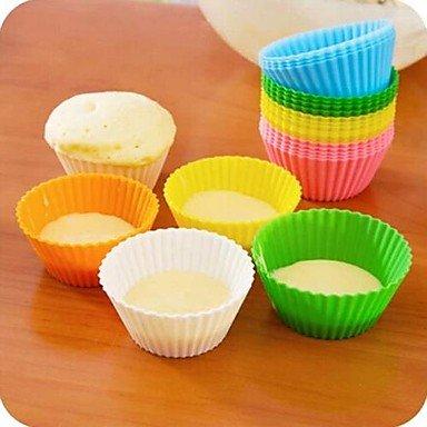 QINF Candy Color Silica Gel Cakes' Molds 12pcs(Random Color)