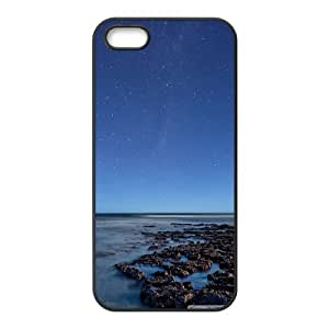 IPhone 5,5S Cases Ocean at Night, Vety, [Black]