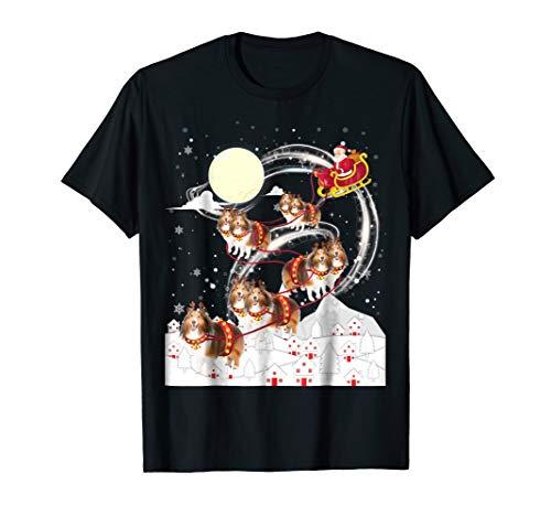 Shetland Sheepdog Reindeer Christmas 2018 Dog T-Shirt